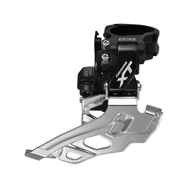 SHIMANO přesmykač XT FD-M786 MTB pro 2x10 obj. 34,9/31,8 + 28,6 Down-swing dual pull 38/44z čer