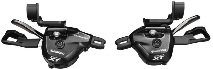 SHIMANO řadící páčka XT SL-M8000 levá 2/3 rychl objímka s ukaz bal