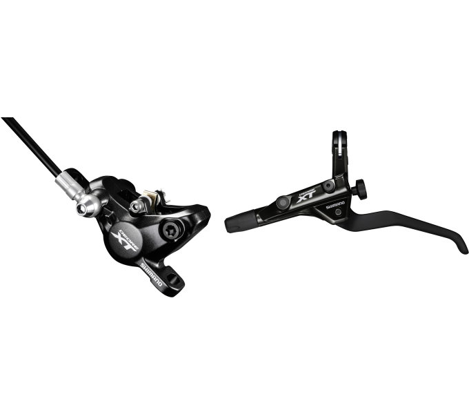 SHIMANO kot brzda Deore XT set BL-T8000(R)+BR-M8000(F) pro post mount, resin des, 1000mm