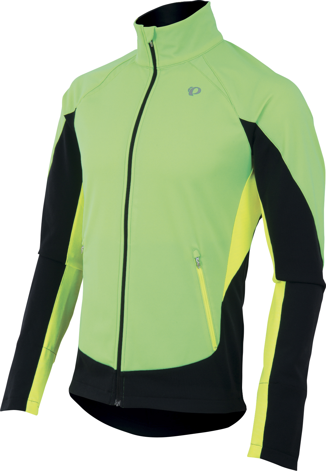PEARL iZUMi FLY SOFTSHELL RUN bunda, screaming zelená/screaming žlutá, M