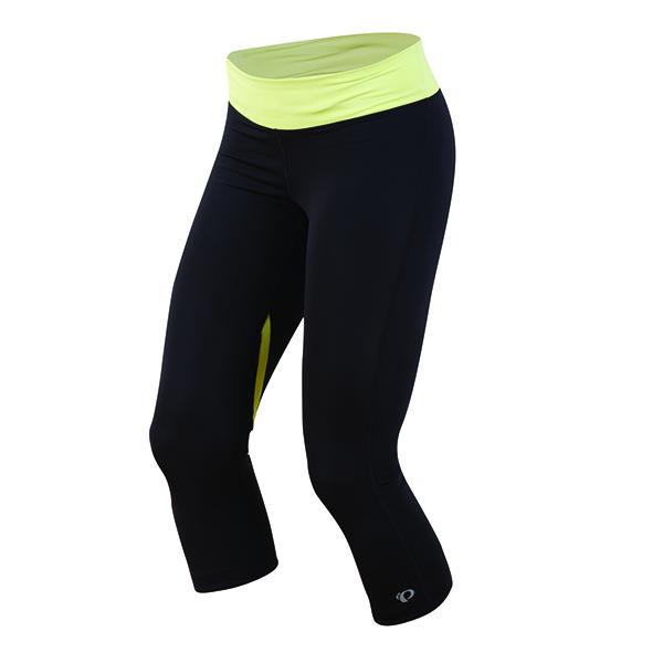 PEARL iZUMi W FLY 3/4 kalhoty, černá/SUNNY LIME, L