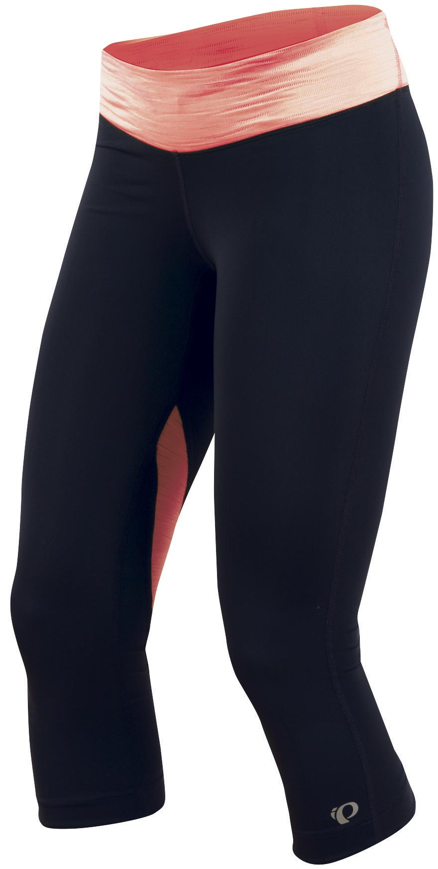 PEARL iZUMi W FLY 3/4 kalhoty, černá/korálová, L