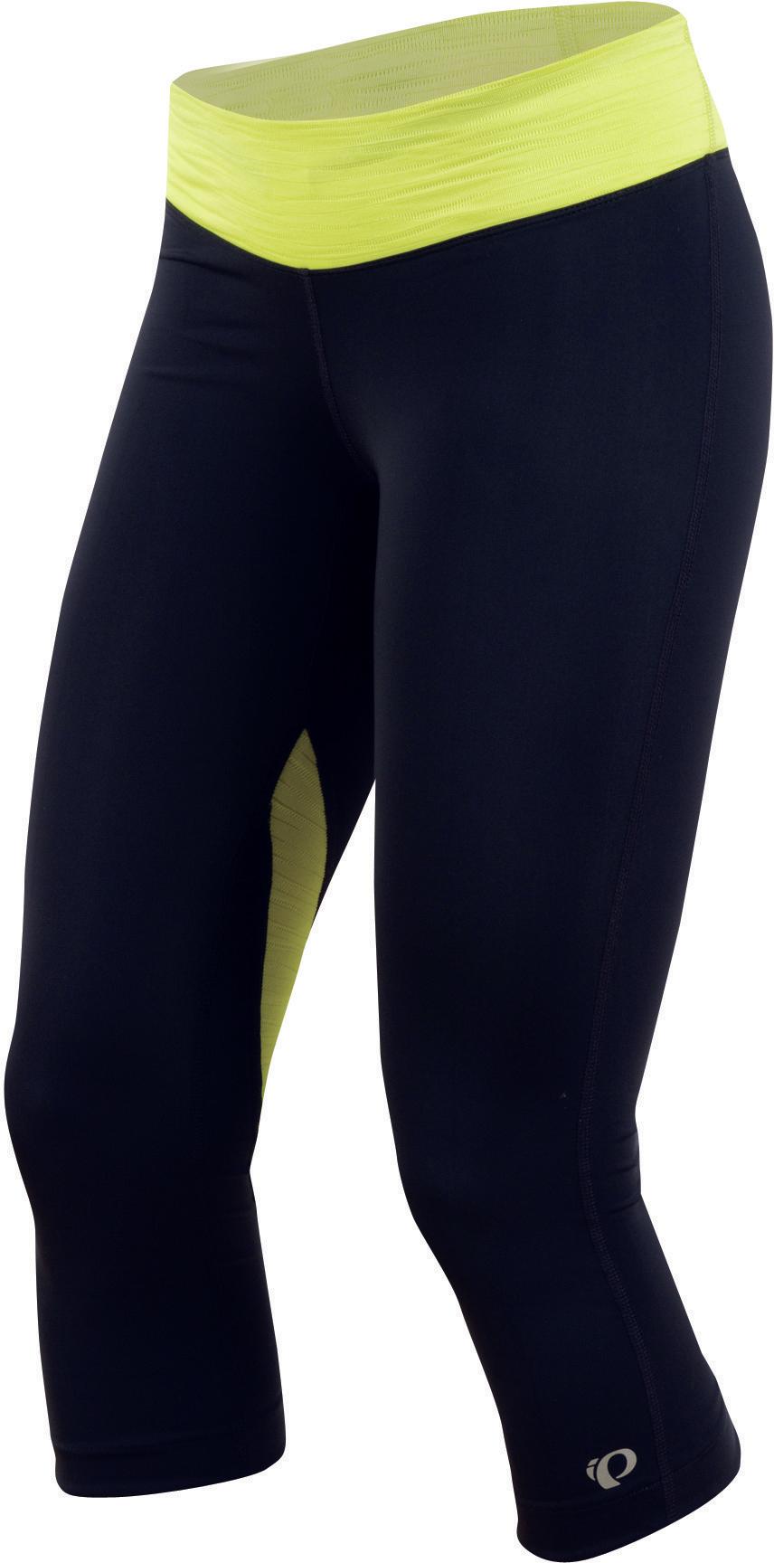 PEARL iZUMi W FLY 3/4 kalhoty, černá/žlutá, L