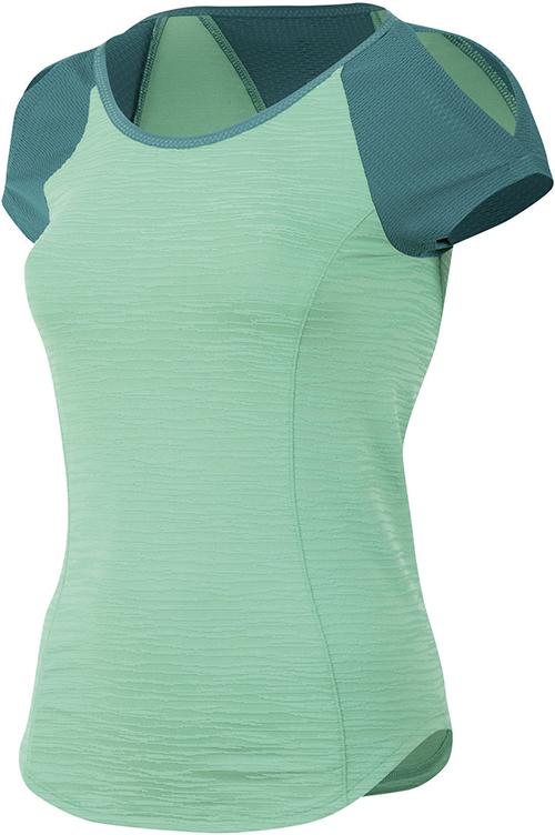 PEARL iZUMi W FLASH dres s krátkym rukávem, zelená/zelená, L
