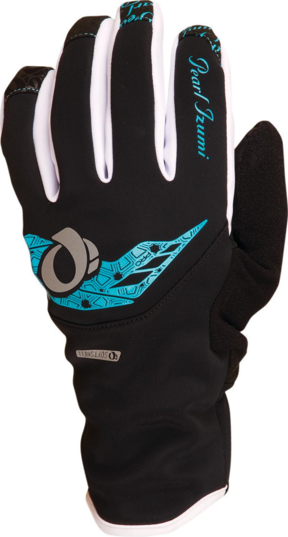 PEARL iZUMi W PRO SOFTSHELL rukavice, černá, M