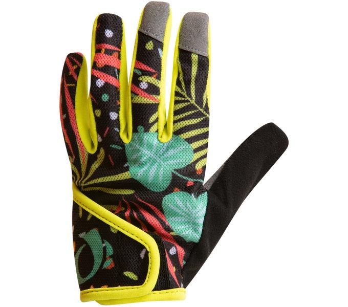 PEARL iZUMi JUNIOR MTB rukavice, CONFETI PALM žlutá M
