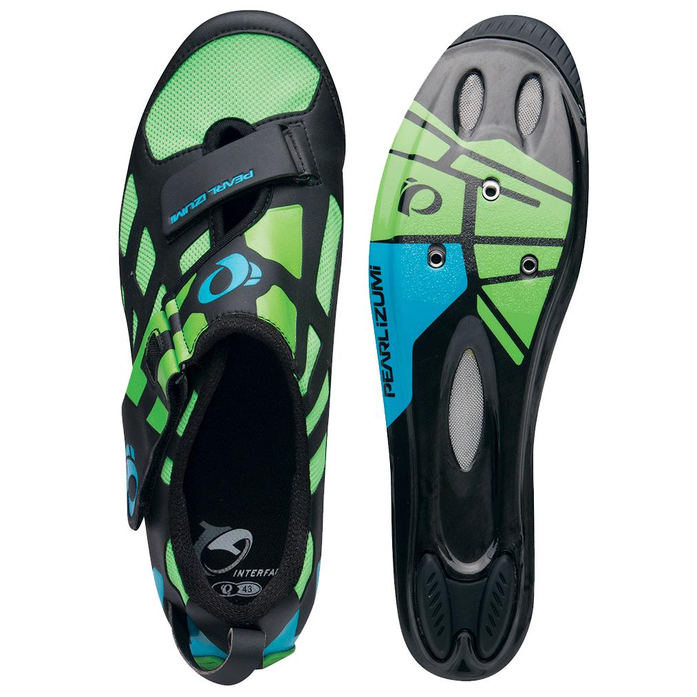 PEARL IZUMI triatlonová obuv TRI FLY V carbon, zelená/černá, vel. 43