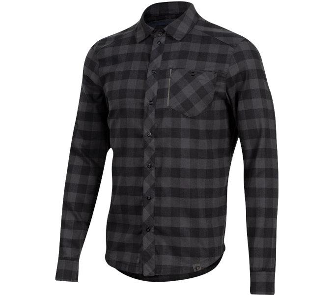 PEARL iZUMi ROVE LS košile, PHANTOM PLAID černá