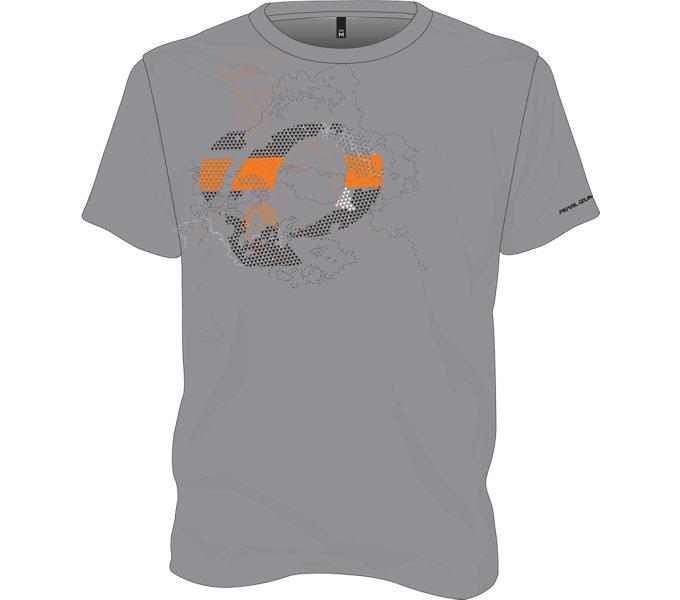 PEARL iZUMi GRAPHIC tričko, DARK HEATHER PULSE šedá XL
