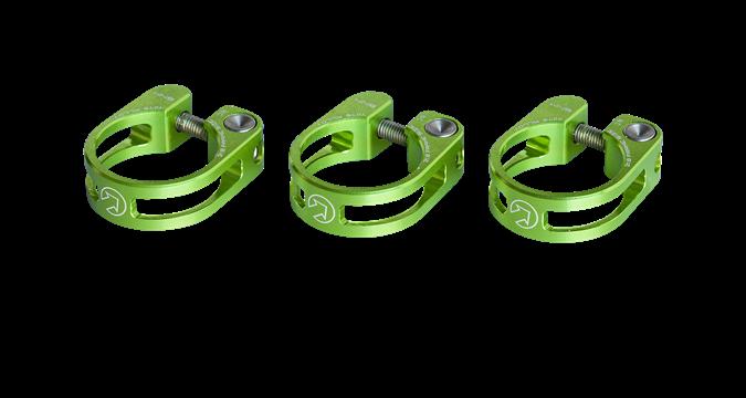 PRO sedlovková objímka odlehčená, 28,6mm, zelená