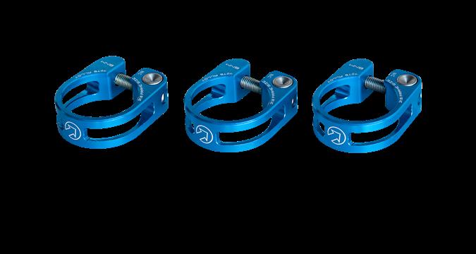 PRO sedlovková objímka odlehčená, 28,6mm, modrá