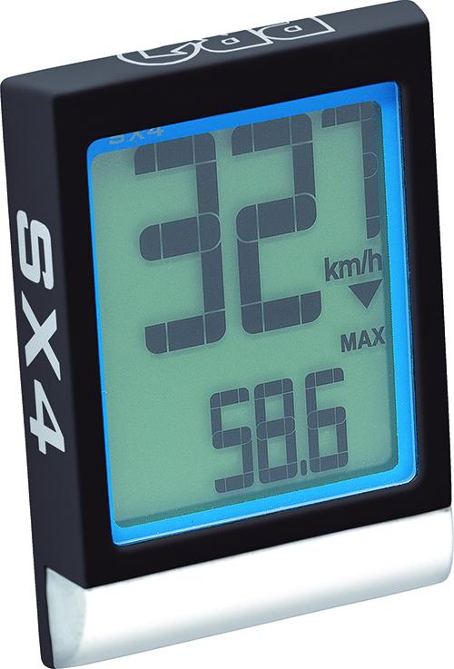 PRO cyklo počítač SX-4, bezdrátový, 12 funkcí, černý