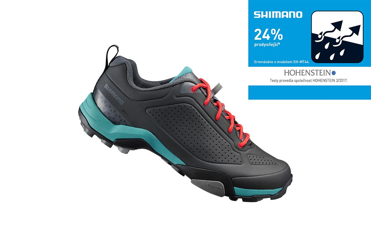 Shimano turistické obuv SH-MT300WG, černá/zelená, 36