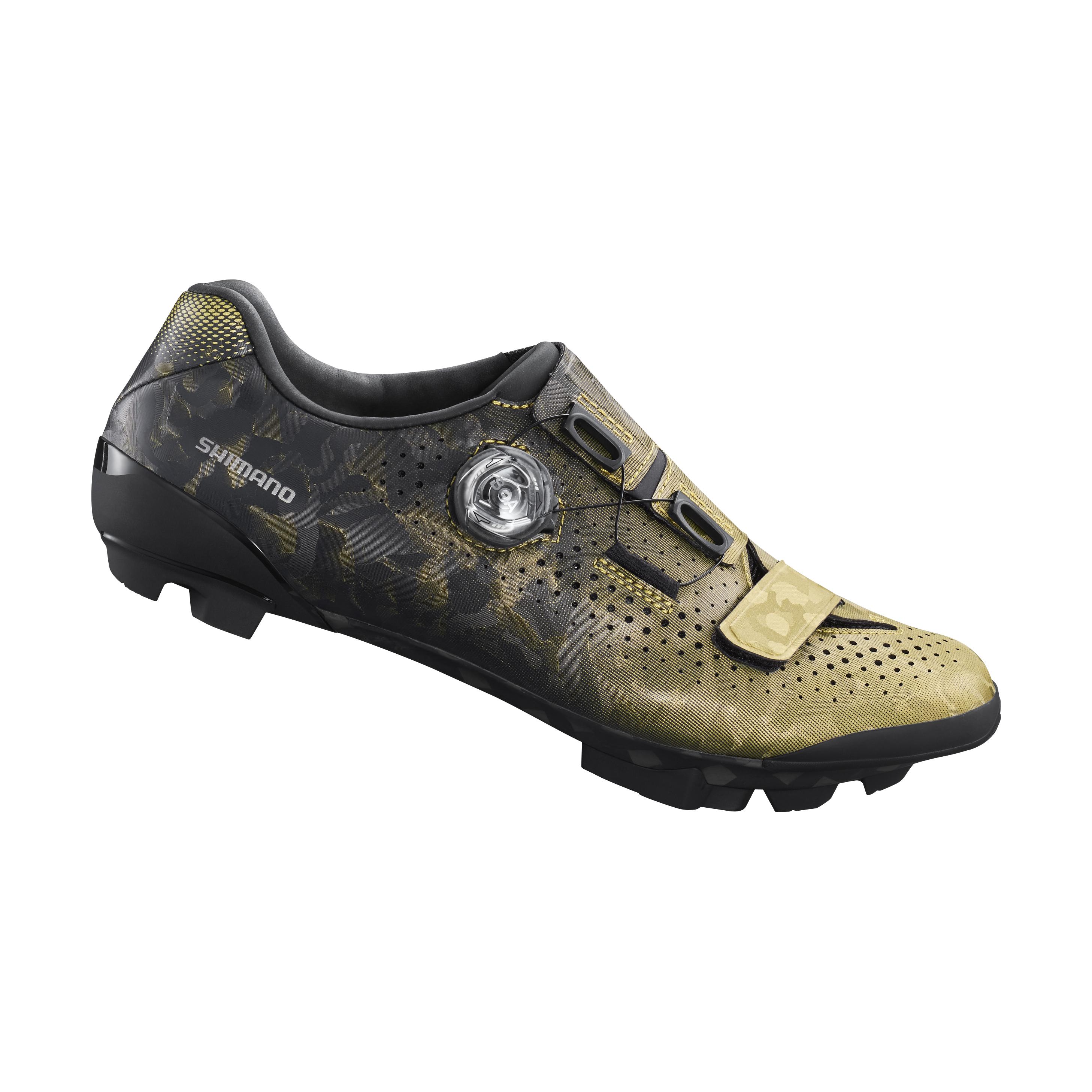 SHIMANO gravel obuv SH-RX800, dámská, zlatá, 36
