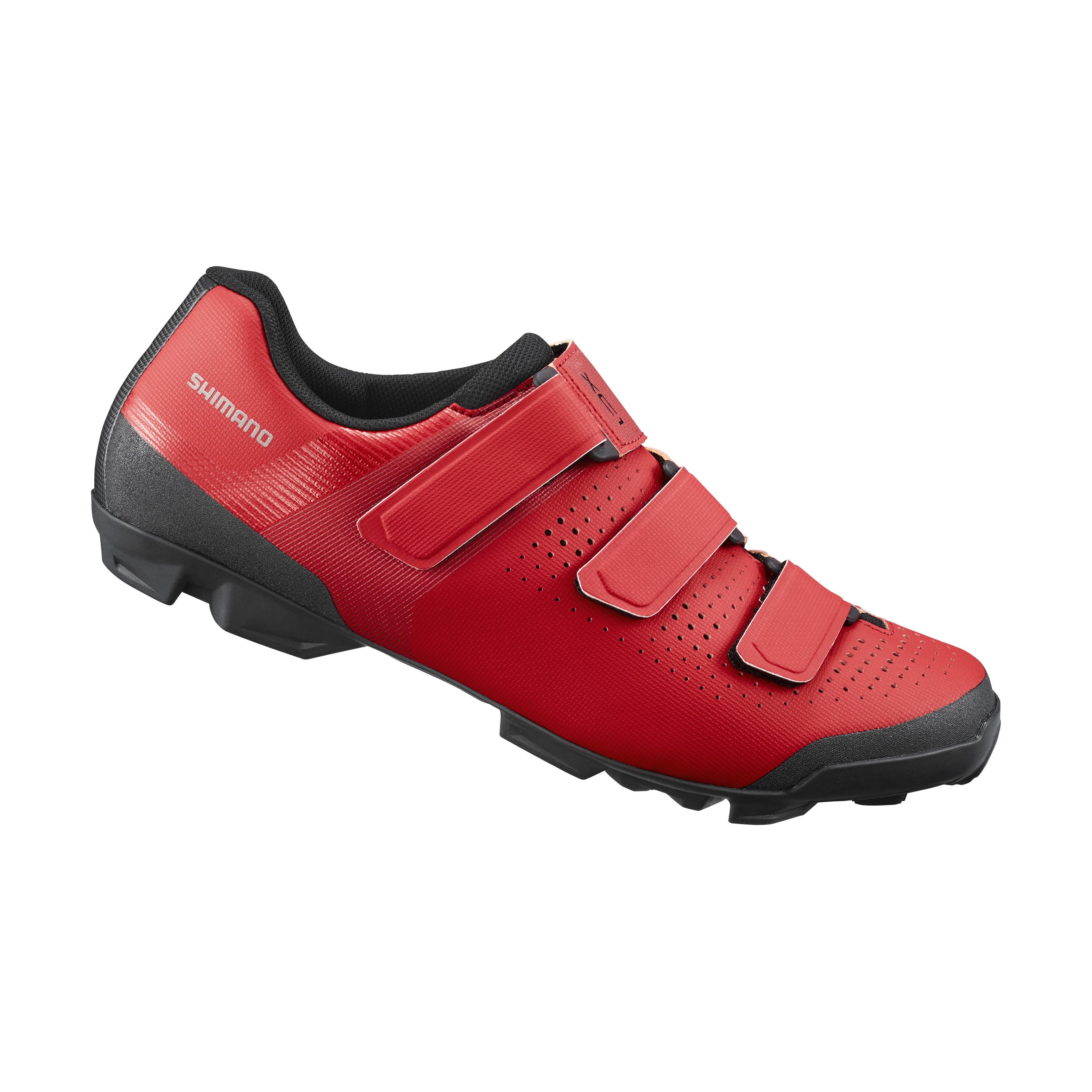SHIMANO MTB obuv SH-XC100, červená, 38