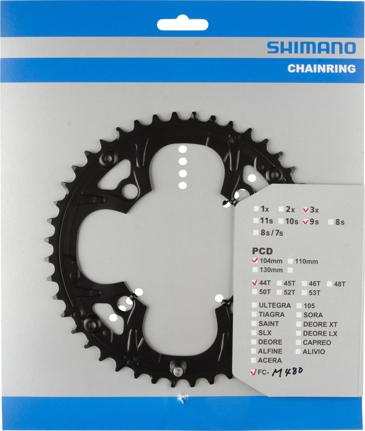 SHIMANO převodník 44z FCM480 černý