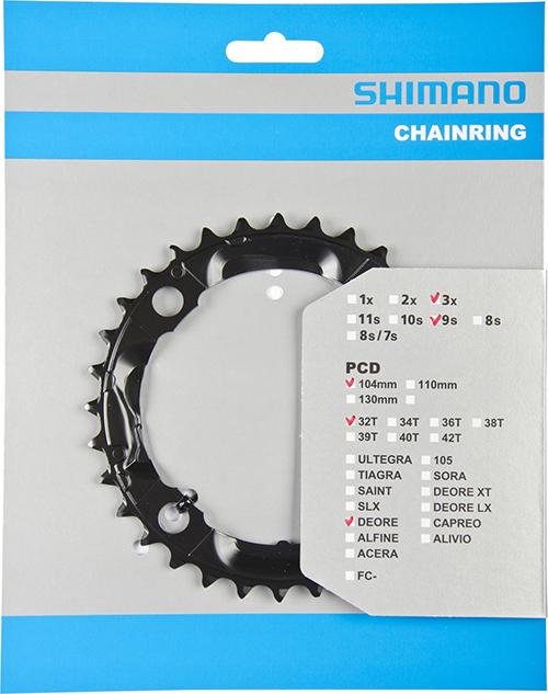 SHIMANO převodník DEORE FCM590 32z, černý