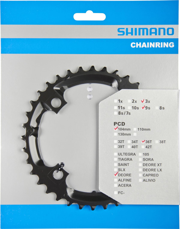 SHIMANO převodník FC-M590 36 zubů černý