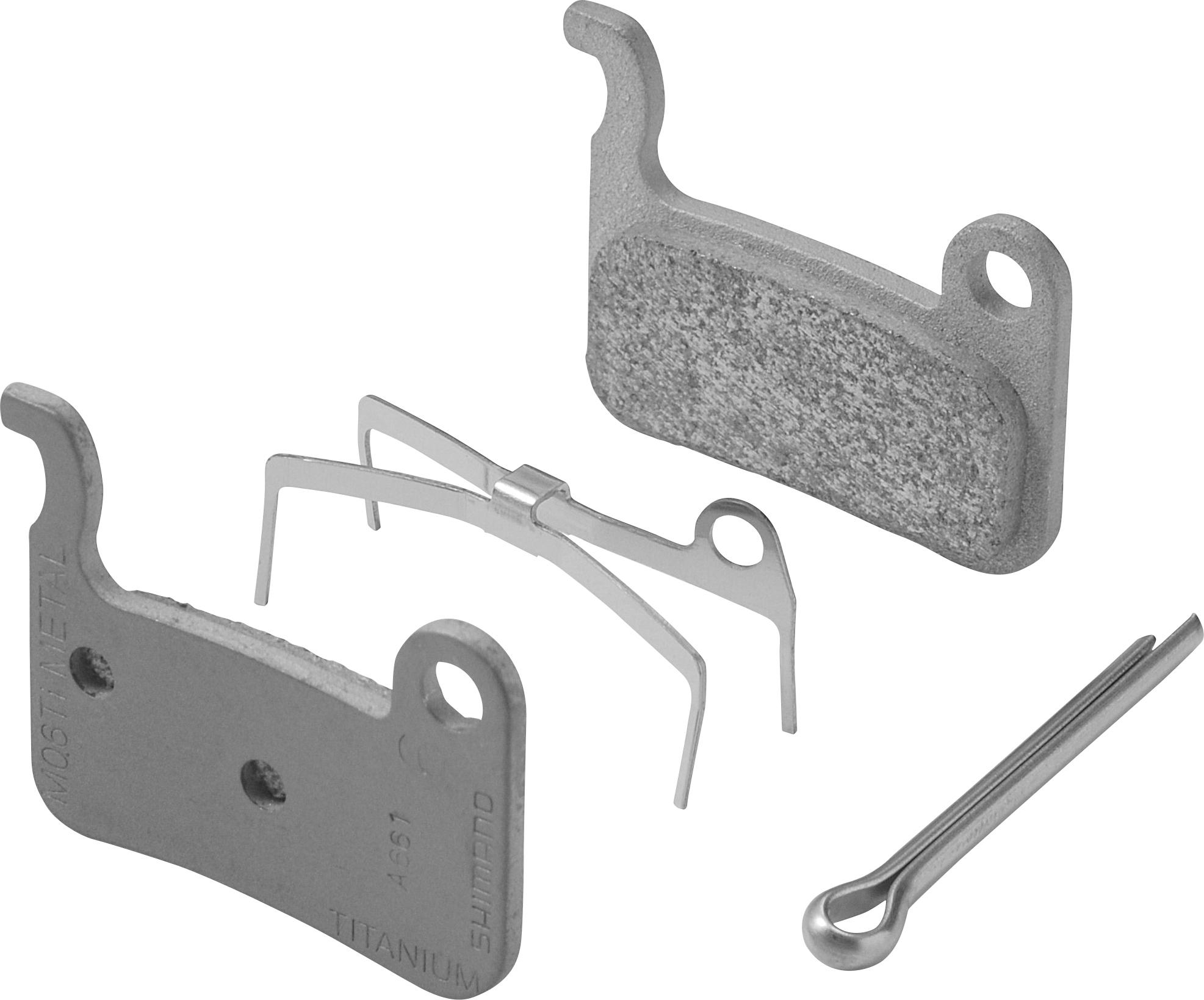 SHIMANO brzdové destičky kovové M06, pár