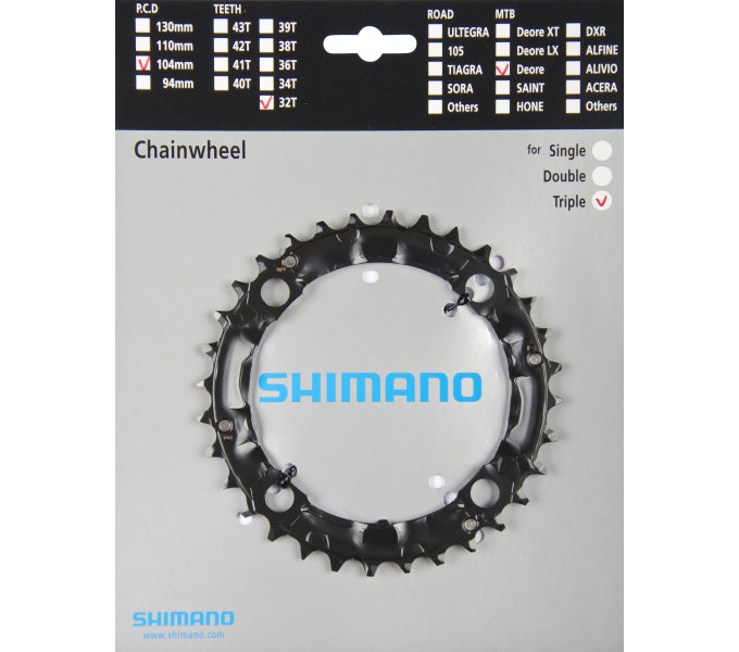 SHIMANO přev. 32z čer.FCM480
