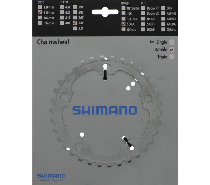 Shimano převodník FC3450 34z, stříbrný