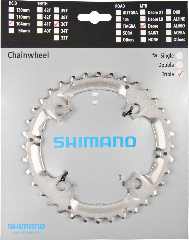 SHIMANO převodník DEORE FCM532 36z, stříbrný