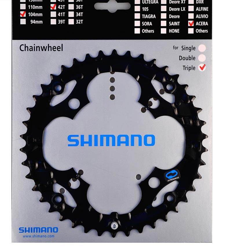 SHIMANO převodník ACERA FCM361 42z, černý